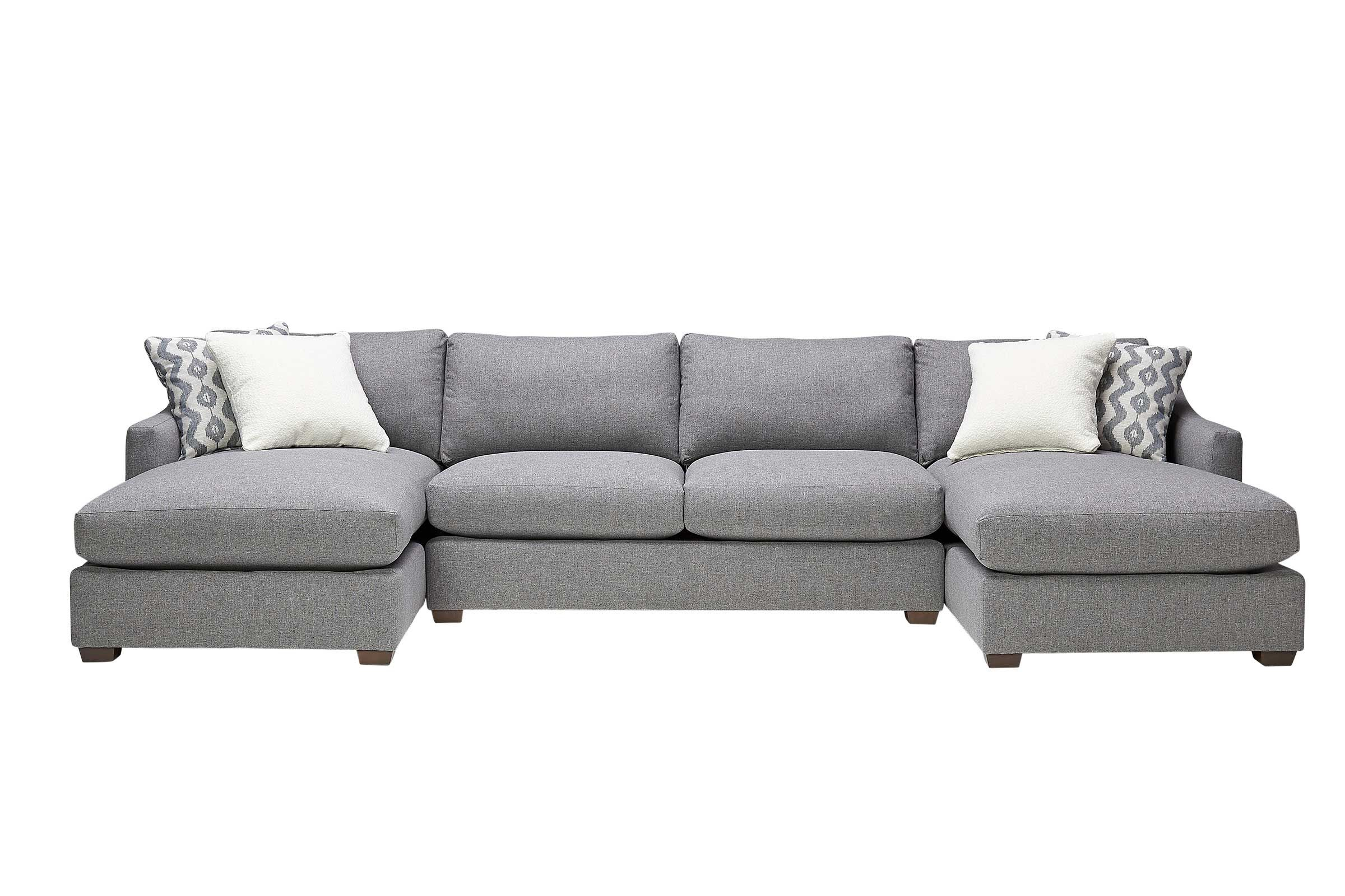 bradford 3 piece dual chaise sectional by robin bruce