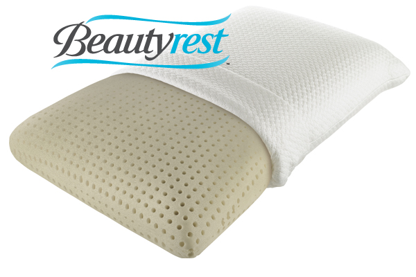 beautyrest truenergy plush memory foam pillow