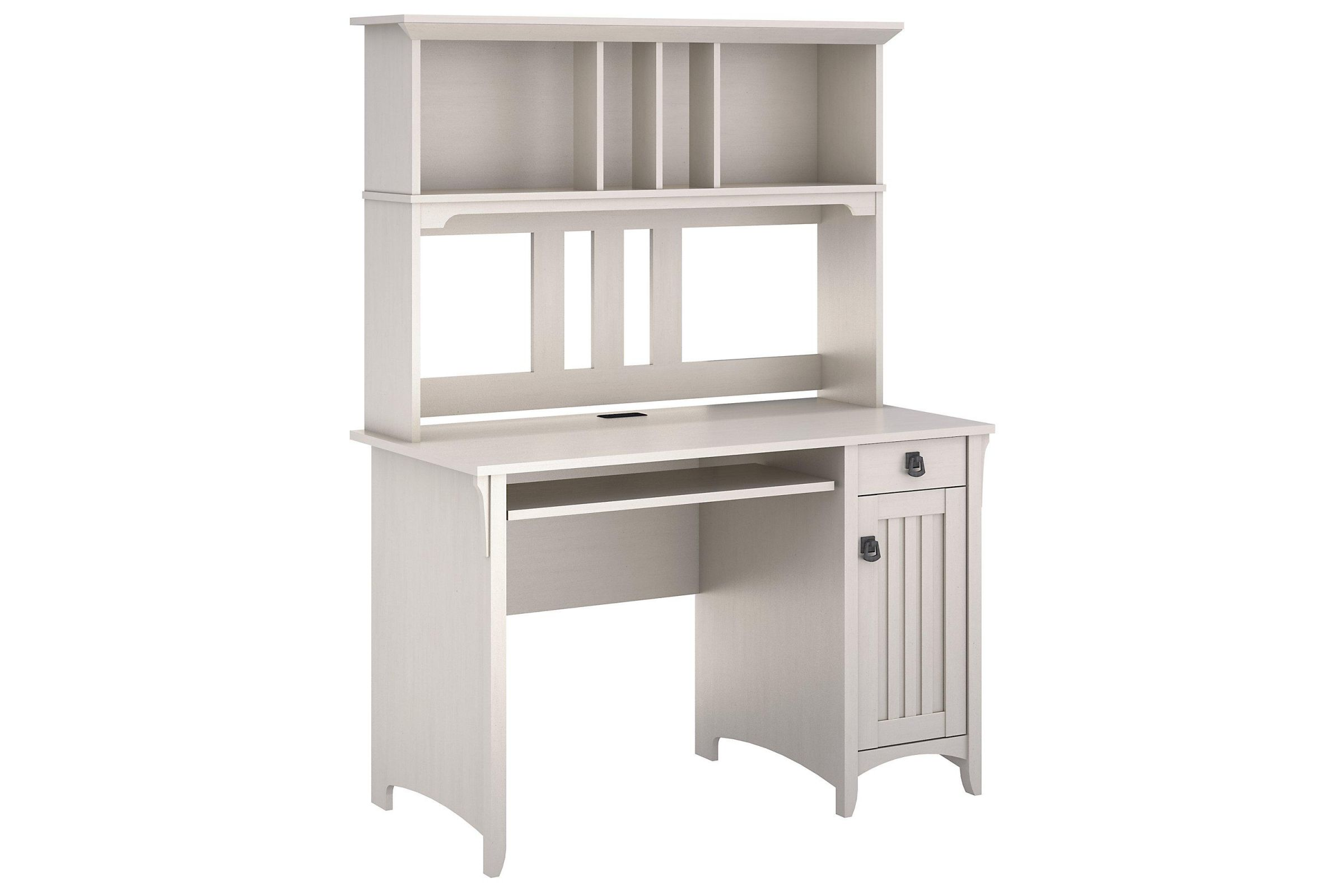 Salinas Mission Style Desk With Hutch In Antique White By Bush