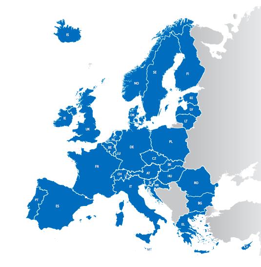 নীল চিহ্নিত দেশগুলো ডাবলিন চুক্তিতে স্বাক্ষর করেছে। ছবি: ইউরোপীয় ইউনিয়ন