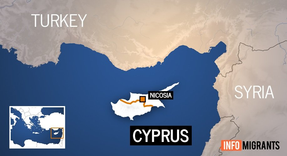 Chypre est divisée en deux : la partie nord est sous occupation turque tandis que la partie sud est indépendante et membre de l'Union européenne. La ville de Nicosie est la capitale des deux pays, une frontière (la Ligne verte) à l'intérieur de la ville délimite les deux États. Crédit : InfoMigrants