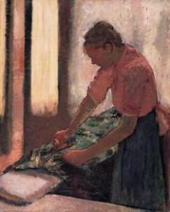Woman ironing (Walker Art Gallery)