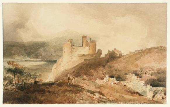 Harlech Castle circa 1800-2 by John Sell Cotman 1782-1842