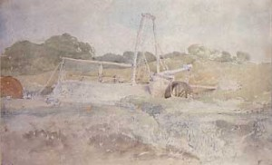 Cotman Landscape with tilt-hammer