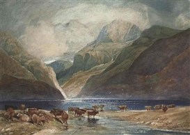 Cotman Snowdon from Llanberis