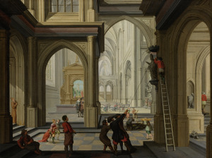 Iconoclasm in a church (Dirck van Delen, 1630)