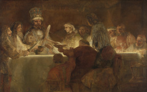 Rembrandt, The conspiracy of the Batavians under Claudius Civilis