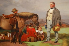 William Malbon, Joseph Fenton with his family in the Meadows, Nottingham, 23 August 1840' (1840), detail