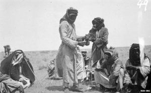 Coffee in the Arabian desert, c1910