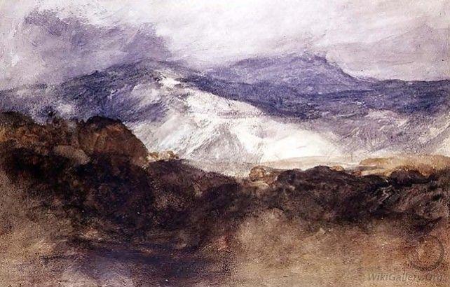 John Sell Cotman, Welsh mountains