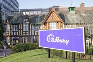 The Cadbury factory in Bournville near Birmingham.