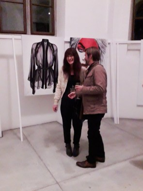 Suzanna Vock at Cornelia Castelli Vernissage Lucerne Switzerland
