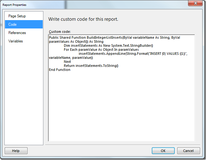 Using Table-Valued Parameters With SQL Server Reporting Services