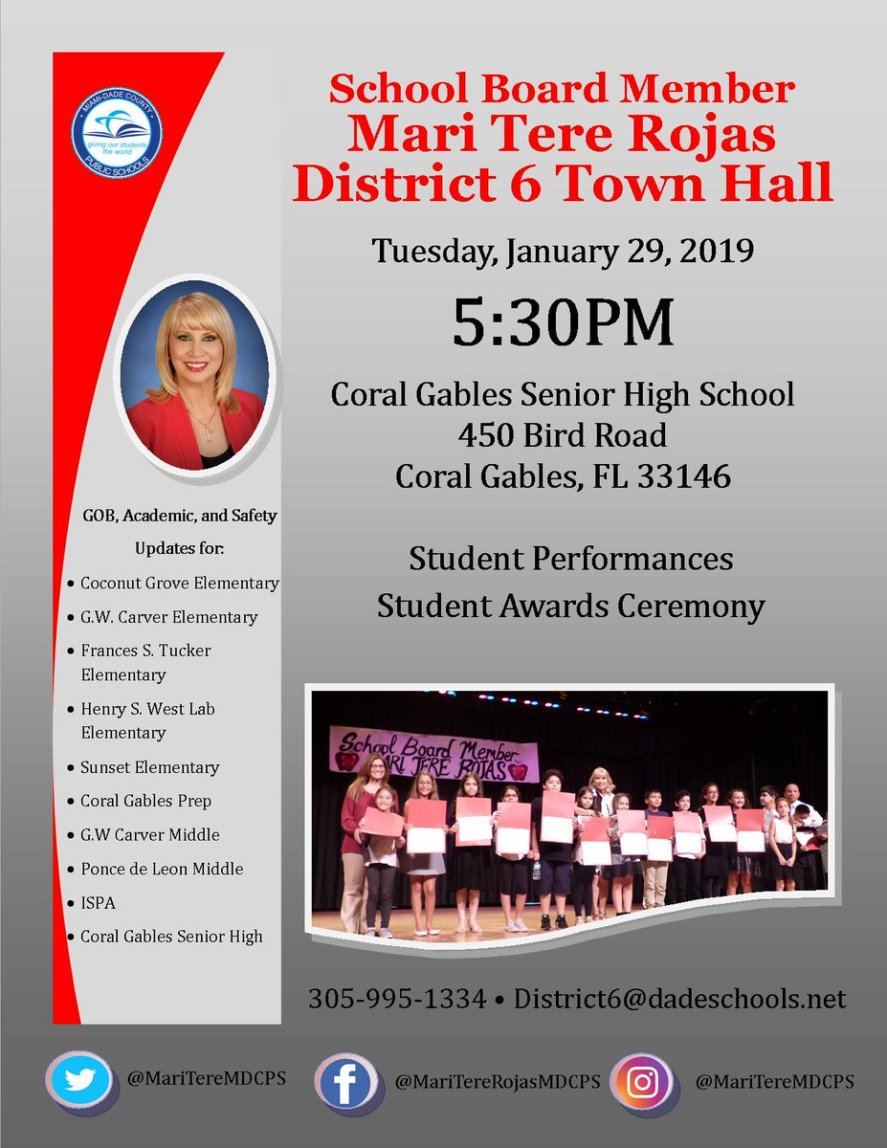District 6 Town Hall Meeting Flyer