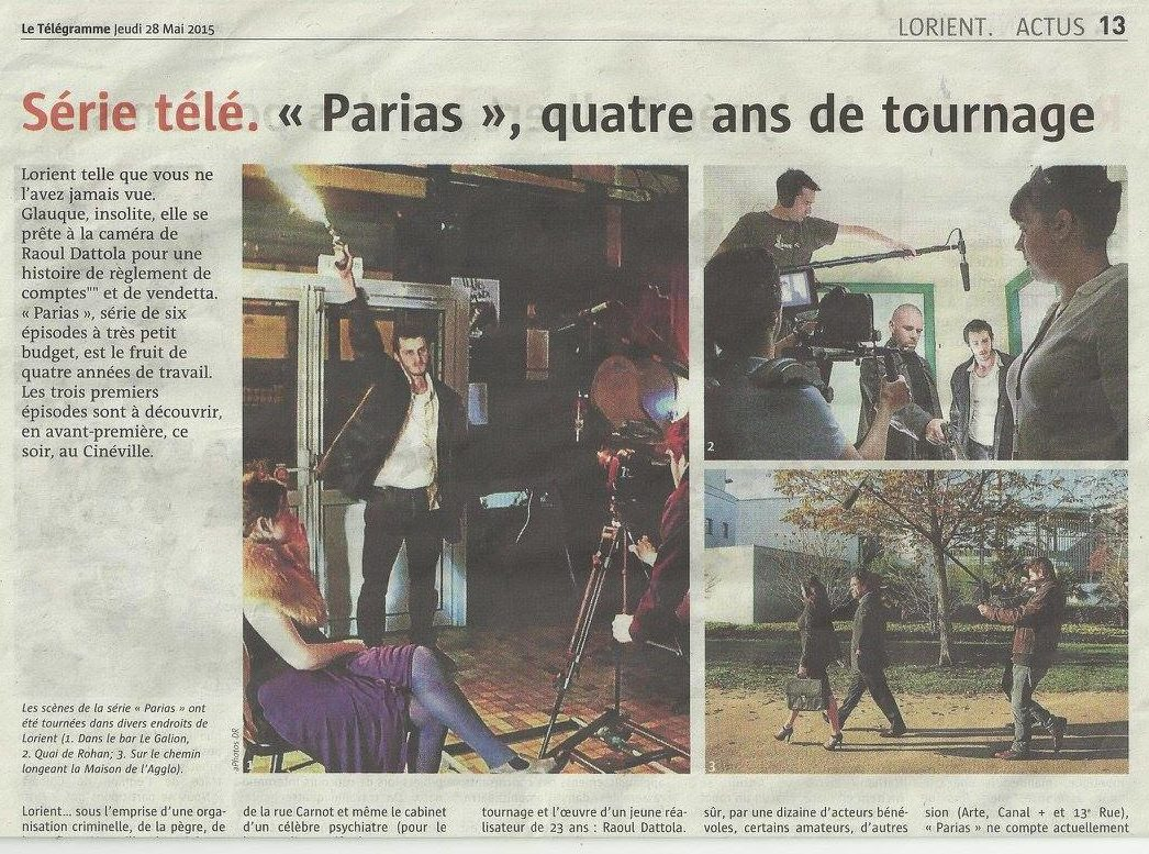 Article Ouest-France - Parias
