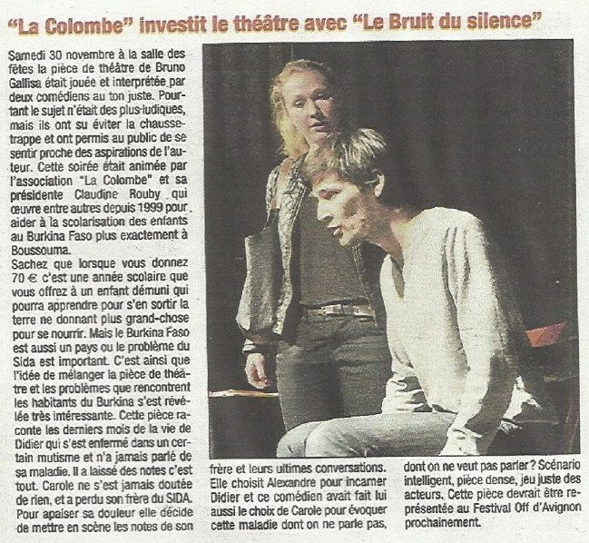 Article presse - Le Bruit du Silence 2013