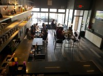 """Even on a cloudy Saturday, the brunch drew a fair number of hungry patrons - mostly students. """"The first two weeks it was packed, then it slowed down,"""" said server Mehran Mohavedi. """"Now it's picking up again."""""""