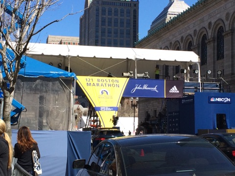 Gwen did not run in the marathon. But here's the finish line!