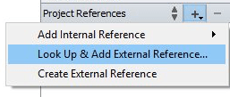 External references menu
