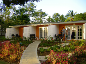 St Lucia resort building