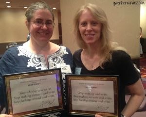 Gwen and Keely with plaques