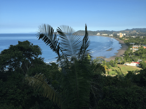 Playa Jacó from a nearby hill