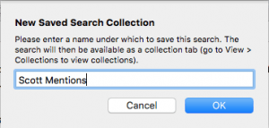 saving a search as a collection