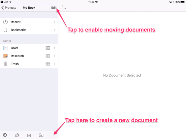 create new document