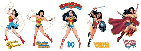 Wonder Woman poster with 5 versions of WW