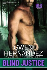 Blind Justice book cover: shirtless man in front of eerie forest