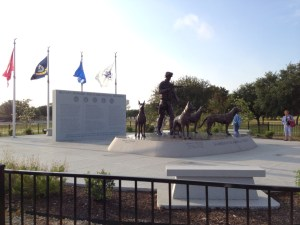 Image of the National Military Working Dog Memorial