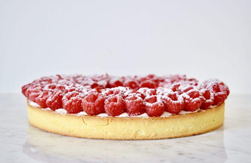Frambozentaart met pistache - Gwenn's Bakery