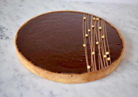 Taart met chocola en karamel - Gwenn's Bakery