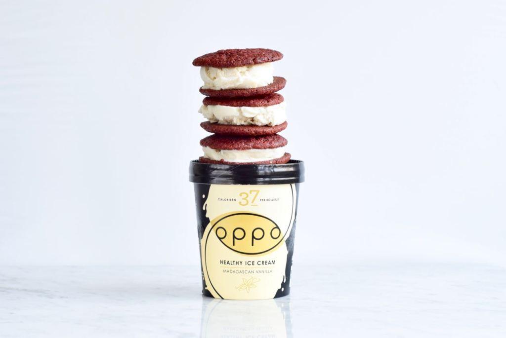 Red Velvet Ice Cream Sandwich - Gwenn's Bakery