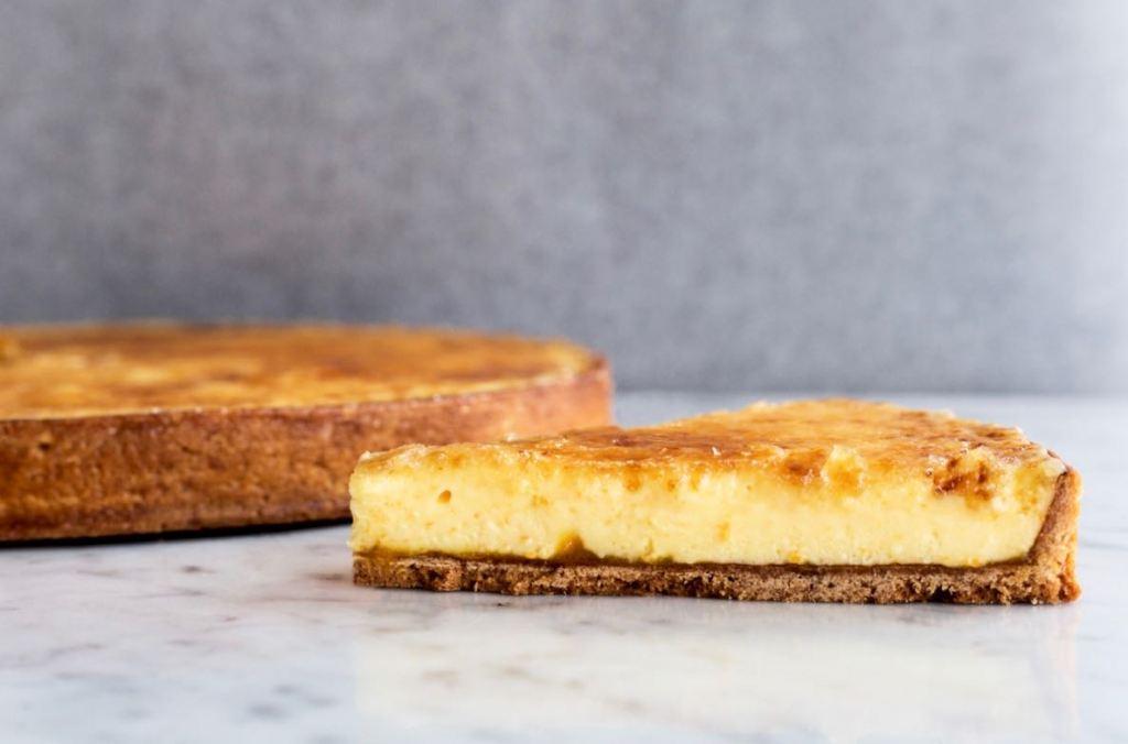 Sinaasappel crème brûlée taart - Gwenn's Bakery