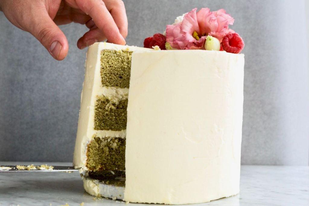 Cake met matcha en witte chocolade - Gwenn's Bakery