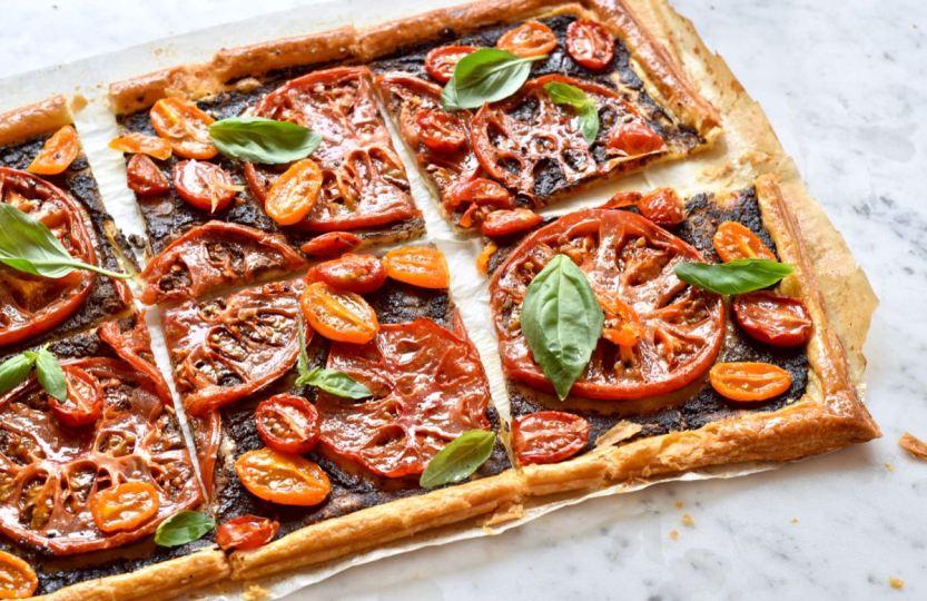 Tomatentaart met tapenade - Gwenn's Bakery