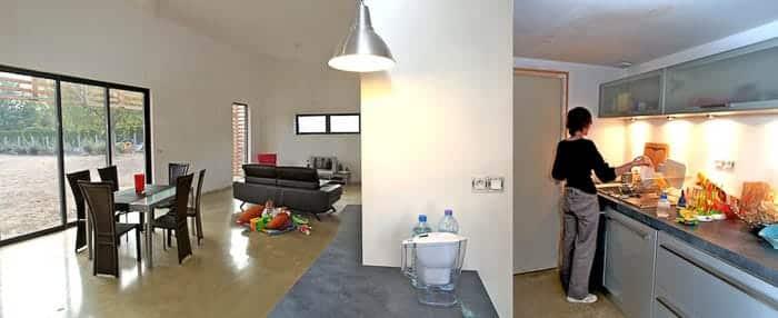 Maison individuelle, intérieur de la maison