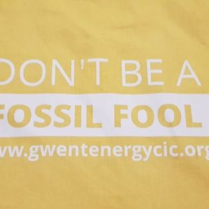 """Don't be a Fossil Fool"" Cotton Tote Bag"