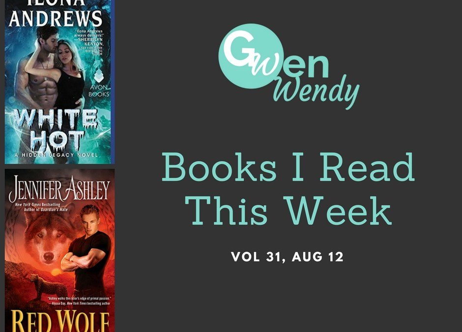Books I read this week: Vol 31, Aug 12