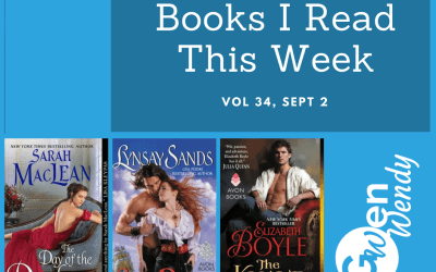 Books I read this week: Vol 34, Sept 2nd