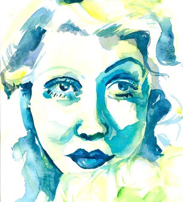 Blue and Green Woman