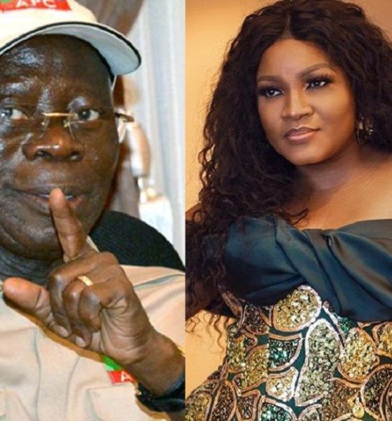 omotola's denial of Oshiomhole