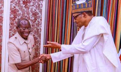 Buhari Celebrates 'Peoples's Comrade' Oshiomhole at 69