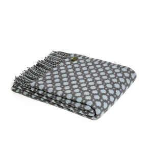 Crossroads Solid Grey/Duck Egg Throw