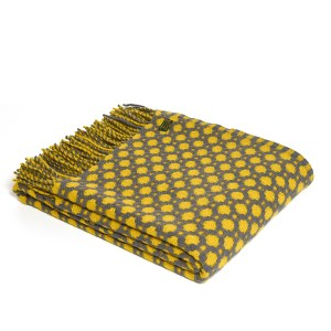 Crossroads Solid Grey/Yellow Throw