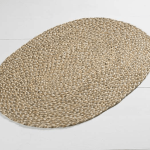 Braided Jute Oval Rug Large Natural