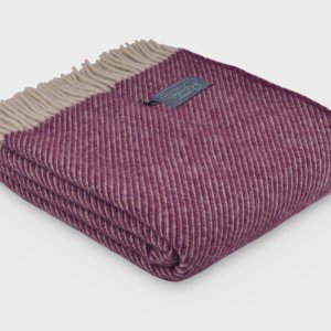 Plum Herringbone Throw