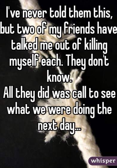 friends prevented suicide and didn't know