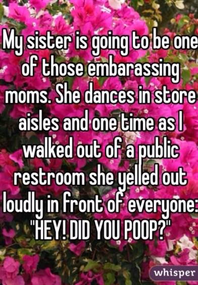 embarrassing moms